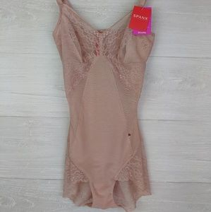 NWT Spanx Vintage Rose Lace Bodysuit *Defect*